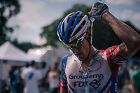 Ramon Sinkeldam (NED/Groupama-FDJ) cooling down after the hot stage <br /> <br /> Stage 9: Arras Citadelle &gt; Roubaix (154km)<br /> <br /> 105th Tour de France 2018<br /> &copy;kramon