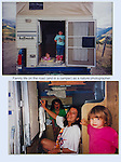 Kieffer family in the pickup camper, Colorado.