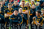 Dr Crokes players celebrate after the AIB Munster GAA Football Senior Club Championship Final match between Dr. Crokes and St. Josephs Miltown Malbay at the Gaelic Grounds in Limerick on Sunday.