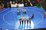 CLEVELAND, OH - MARCH 16: The singing of the national anthem prior to the Division I Men's Wrestling Championship held at Quicken Loans Arena on March 16, 2018 in Cleveland, Ohio. (Photo by Jay LaPrete/NCAA Photos via Getty Images)