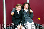 Sadhbh Slattery,  and April O'Reilly Abbeydorney enjoying  the KERRY PONY SOCIETY 37th Annual Show & Gymkhana At Blennerville on Sunday