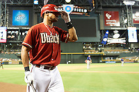 Arizona Diamondbacks pinch hitter Chris Young #24 walks to the plate during a National League regular season game against the Colorado Rockies at Chase Field on October 3, 2012 in Phoenix, Arizona. Colorado defeated Arizona 2-1. (Mike Janes/Four Seam Images)