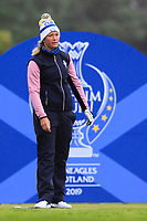 Suzann Pettersen of Team Europe on the 17th tee during Day 2 Fourball at the Solheim Cup 2019, Gleneagles Golf CLub, Auchterarder, Perthshire, Scotland. 14/09/2019.<br /> Picture Thos Caffrey / Golffile.ie<br /> <br /> All photo usage must carry mandatory copyright credit (© Golffile | Thos Caffrey)