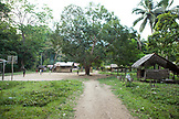 PHILIPPINES, Palawan, Barangay region, looking at the central part of the jungle village Kalakwasan