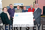 Killorglin Men's Shed presented a cheque to three local charities - Kilorlgin SVP, KIllorglin Mental Health and  Killorglin Hospice - the proceeds from their Christmas carol singing. .L-R Caroline Williams (Killorglin Hospice), Donie O'Sullivan, James Cashman (SVP), Stephen O'Grady (Killorglin Mental Health), Brendan Foley and Jack O'Sullivan.