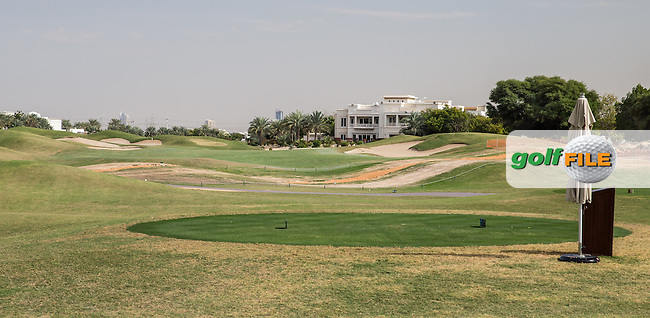 10th tee to fairway at The Address Montgomerie Golf Club, Dubai, United Arab Emirates.  27/01/2016. Picture: Golffile | David Lloyd<br /> <br /> All photos usage must carry mandatory copyright credit (&copy; Golffile | David Lloyd)