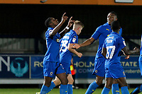 GOAL - Michael Folivi of AFC Wimbledon scores during the The Leasing.com Trophy match between AFC Wimbledon and Leyton Orient at the Cherry Red Records Stadium, Kingston, England on 8 October 2019. Photo by Carlton Myrie / PRiME Media Images.