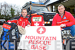 Damien Courtney and Alan Wallace From the Kerry Mountain rescue who are appealing for hill walkers and climbers be prepared and be safe over the holiday period