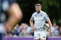 Rhys Priestland of Bath Rugby looks on during a break in play. Pre-season friendly match, between Bristol Rugby and Bath Rugby on August 12, 2017 at the Cribbs Causeway Ground in Bristol, England. Photo by: Patrick Khachfe / Onside Images