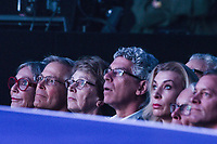 NWA Democrat-Gazette/CHARLIE KAIJO The Walton family listen to speakers during the Walmart shareholders meeting, Friday, June 7, 2019 at the Bud Walton Arena in Fayetteville.