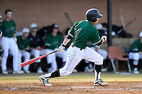 Second baseman Erik Samples (1) of the University of South Carolina Upstate Spartans in a game against the Citadel Bulldogs on Tuesday, February, 18, 2014, at Cleveland S. Harley Park in Spartanburg, South Carolina. Upstate won, 6-2. (Tom Priddy/Four Seam Images)
