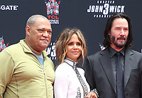 14 May 2019 - Hollywood, California - Laurence Fishburne, Halle Berry, Keanu Reeves. The Keanu Reeves Hand And Foot Print Ceremony held at The TCL Chinese Theatre.       <br /> CAP/ADM/FS<br /> ©FS/ADM/Capital Pictures