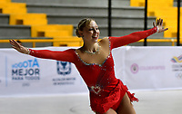 BOGOTÁ - COLOMBIA, 04-09-2018: Natalie Motley, deportista de Estados Unidos,durante prueba de Programa Corto, Mayores Damas en Linea, en el Campeonato Panamericano Patinaje Artístico, en el Coliseo El Salitre de la Ciudad de Bogotá. / Natalie Motley, sportwoman from United States, during the Short Program Senior Ladies test, in the Panamerican Figure Skating Championship the El salitre Coliseum in Bogota City. Photo: VizzorImage / Luis Ramirez / Staff.