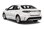Car pictures of rear three quarter view of a 2020 Toyota Corolla XLE 4 Door Sedan angular rear