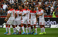 celebrate the goal, Torjubel zum 0:1 um Rouwen Hennings (Fortuna Düsseldorf) - 01.09.2019: Eintracht Frankfurt vs. Fortuna Düsseldorf, Commerzbank Arena, 3. Spieltag<br /> DISCLAIMER: DFL regulations prohibit any use of photographs as image sequences and/or quasi-video.