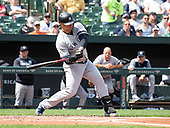 New York Yankees catcher Gary Sanchez (24) bats in the first inning against the Baltimore Orioles at Oriole Park at Camden Yards in Baltimore, MD on Sunday, April 7, 2019. <br /> Credit: Ron Sachs / CNP<br /> (RESTRICTION: NO New York or New Jersey Newspapers or newspapers within a 75 mile radius of New York City)