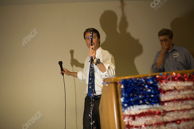 Former Senator John Edwards (D-North Carolina), potential Democratic presidential candidate, at a fundraiser held by the Bremer County Democrats. Waverly, Iowa, August 15, 2007.