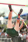 Photograph from the WIAA State Championships at Eastern Washington University in Cheney, Washington, during the 2010 Mt. Rainier Lutheran High School track and field season (pole vault photo sequence, 5 of 14).