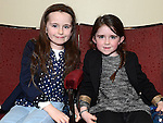 Ava and Mia Halpenny pictured at the Ardee Brass Band concert in the Bohemian Centre. Photo:Colin Bell/pressphotos.ie