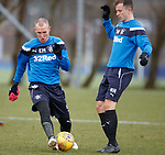 30.3.2018: Rangers training:<br /> Kenny Miller and Andy Halliday