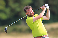 Liam Bresnahan (Omagh) on the 12th tee during Round 2 - Strokeplay of the North of Ireland Championship at Royal Portrush Golf Club, Portrush, Co. Antrim on Tuesday 10th July 2018.<br /> Picture:  Thos Caffrey / Golffile