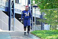 July 28, 2017: New England Patriots defensive lineman Woodrow Hamilton (74) walks to the practice fields for the New England Patriots training camp held at Gillette Stadium, in Foxborough, Massachusetts. Eric Canha/CSM