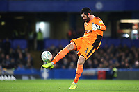AFC Wimbledon goalkeeper, Tom King during Chelsea Under-21 vs AFC Wimbledon, Checkatrade Trophy Football at Stamford Bridge on 4th December 2018
