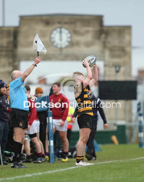 Wednesday 7th March 2018 |  RBAI vs Royal School Armagh<br /> <br /> Connor McCormick during the Ulster Schools Cup Semi-Final between RBAI vs Royal School Armagh Stadium, Ravenhill Park, Belfast, Northern Ireland. Photo by John Dickson / DICKSONDIGITAL