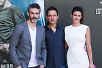Leonardo Sbaraglia, Rodrigo Grande and Clara Lago during the photocall of  Al final del tunel at Warner Bros Espana in Madrid. August 8, 2016. (ALTERPHOTOS/Rodrigo Jimenez)