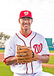 28 February 2016: Washington Nationals pitcher Joe Ross poses for his Spring Training Photo-Day portrait at Space Coast Stadium in Viera, Florida. Mandatory Credit: Ed Wolfstein Photo *** RAW (NEF) Image File Available ***