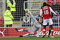 Steve Arnold of Stevenage is beaten for Rotherham's third goal. Rotherham United v Stevenage - FA Cup 1st Round - New York Stadium, Rotherham - 3rd November 2012. © Kevin Coleman 2012.