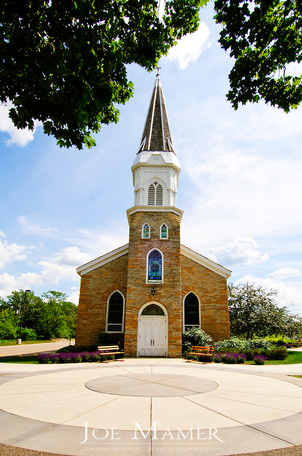 St. Peter's Church in Mendota, Minnesota.  St. Peter's Church was the first Catholic parish in Minnesota.  It was first blessed by Fr. Galtier on October 2, 1842.