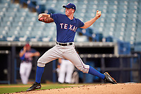 Pitcher Jason Groome (19) of IMG Academy in Barnegat, New Jersey playing for the Texas Rangers scout team during the East Coast Pro Showcase on July 28, 2015 at George M. Steinbrenner Field in Tampa, Florida.  (Mike Janes/Four Seam Images)