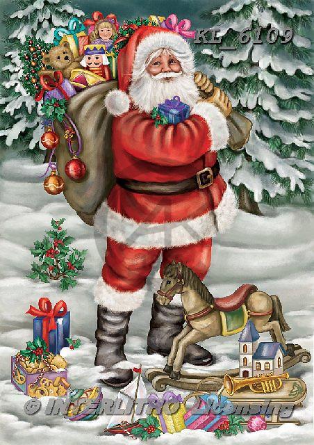 Interlitho-Dani, CHRISTMAS SANTA, SNOWMAN, WEIHNACHTSMÄNNER, SCHNEEMÄNNER, PAPÁ NOEL, MUÑECOS DE NIEVE, paintings+++++,santa, kids,KL6109,#x# ,nostalgic
