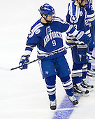 Kyle De Laurell (Air Force - 9) is announced as a starter for the Falcons. The Boston College Eagles defeated the Air Force Academy Falcons 2-0 in their NCAA Northeast Regional semi-final matchup on Saturday, March 24, 2012, at the DCU Center in Worcester, Massachusetts.