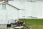Hay mower, Mower in barn yard, hay, grass, legumes, feed, pasture, rangeland, graze, stable, barn,scythe, wagons, haying, mowers, agricultural machinery, baler, mechanized, pitch fork, cart, wagon, swep, tractor-drawn trailer,  Commonwealth of Pennsylvania, Keystone state, Thirteen Colonies, Constitution Fine Art Photography by Ron Bennett, Fine Art, Fine Art photography, Art Photography, Copyright RonBennettPhotography.com © Fine Art Photography by Ron Bennett, Fine Art, Fine Art photography, Art Photography, Copyright RonBennettPhotography.com ©