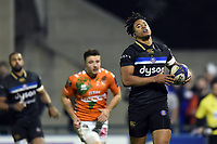 Anthony Watson of Bath Rugby runs in a try in the first half. European Rugby Champions Cup match, between Benetton Rugby and Bath Rugby on January 20, 2018 at the Municipal Stadium of Monigo in Treviso, Italy. Photo by: Patrick Khachfe / Onside Images
