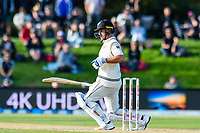 Neil Wagner of the Black Caps get a ball on the shoulder during the final day of the Second International Cricket Test match, New Zealand V England, Hagley Oval, Christchurch, New Zealand, 3rd April 2018.Copyright photo: John Davidson / www.photosport.nz