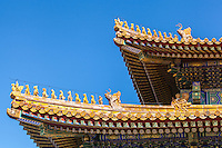 Roof of a temple in the Forbidden City, Beijing, China