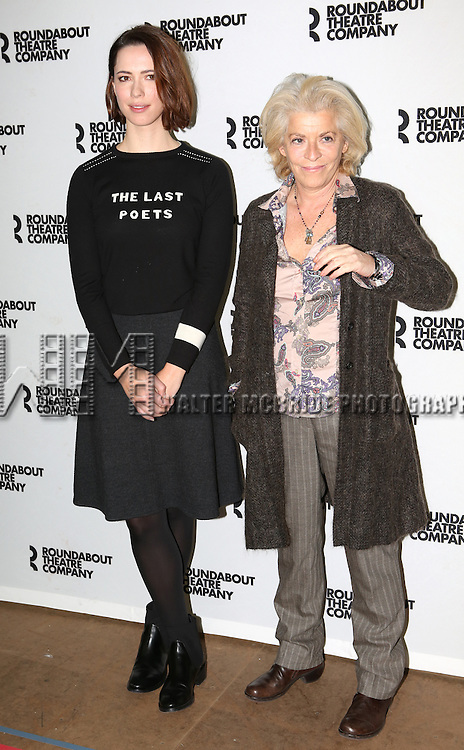 Rebecca Hall and Suzanne Bertish attending the Meet and Greet for the Roundabout Theatre Company Production of 'Machinal'  at their Rehearsal Studios in New York City on November 26, 2013.