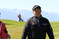 Kiradech Aphibarnrat (THA) walks off the 7th green during Saturday's Round 3 of the 2018 Omega European Masters, held at the Golf Club Crans-Sur-Sierre, Crans Montana, Switzerland. 8th September 2018.<br /> Picture: Eoin Clarke | Golffile<br /> <br /> <br /> All photos usage must carry mandatory copyright credit (&copy; Golffile | Eoin Clarke)