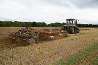 Cultivating stubble<br /> &copy;Tim Scrivener Photographer 07850 303986<br />      ....Covering Agriculture In The UK....