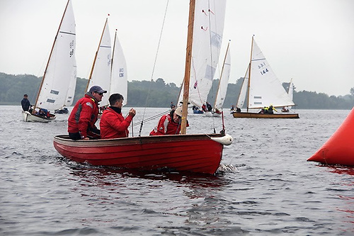 Shannon One Designs racing on Lough Derg as they have raced for more than 90 years