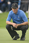 23rd September, 2006. .American Ryder Cup Team player Zach Johnson contemplates his putt on the 9th green during the afternoon fourball session of the second day of the 2006 Ryder Cup at the K Club in Straffan, County Kildare in the Republic of Ireland..Photo: Eoin Clarke/ Newsfile.