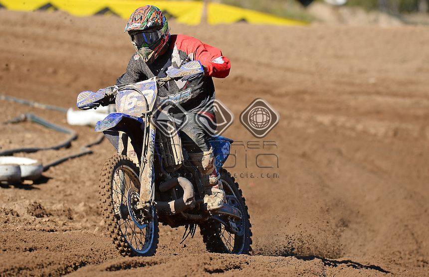 Hamish McGrath  / Yamaha<br /> MX Nationals / Round 6 / MXD<br /> Australian Motocross Championships<br /> Raymond Terrace NSW<br /> Sunday 5 July 2015<br /> &copy; Sport the library / Jeff Crow