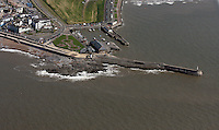 Aerial view of Porthcawl Promenade and Lighthouse