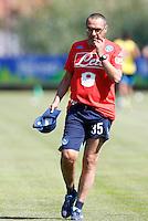 Maurizio Sarri  <br /> ritiro precampionato Napoli Calcio a  Dimaro 12<br /> Luglio 2015<br /> <br /> Preseason summer training of Italy soccer team  SSC Napoli  in Dimaro Italy July 12, 2015