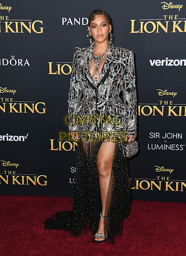 "09 July 2019 - Hollywood, California - Beyonce. Disney's ""The Lion King"" Los Angeles Premiere held at Dolby Theatre. <br /> CAP/ADM/BT<br /> ©BT/ADM/Capital Pictures"
