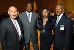 Mayor Bill White, Mathew and Tina Knowles and The Rev. Bill Lawson at the City of Houston's Birthday Bash at the George R. Brown Convention Center Tuesday Aug. 19,2008.(Dave Rossman/For the Chronicle)
