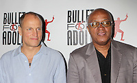 "Woody Harrelson and co-writer Frankie Hyman attending the opening night performance of ""Bullet for Adolf"" at New World Stages in New York, 08.08.2012...Credit: Rolf Mueller/face to face /MediaPunch Inc. ***FOR USA ONLY*** ***Online Only for USA Weekly Print Magazines*** /Nortephoto.com<br />